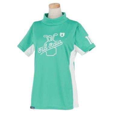 フィラ FILA レディース 配色切替 半袖 モックネックシャツ 751-603 2021年モデル ミント(MT)