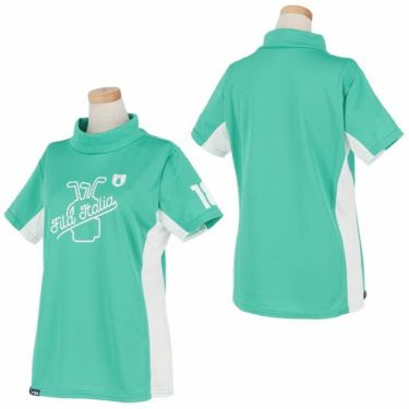 【ssプロパー】△フィラ レディース 配色切替 半袖 モックネックシャツ 751-603 ゴルフウェア [2021年春夏モデル] 詳細3