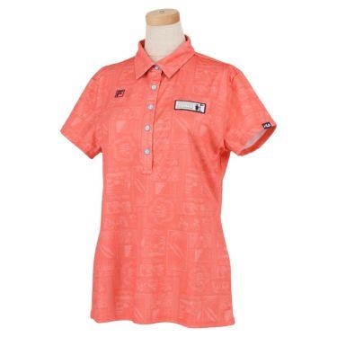 フィラ FILA レディース ボタニカル柄 メッシュ生地 半袖 ポロシャツ 751-613 2021年モデル ピンク(PK)
