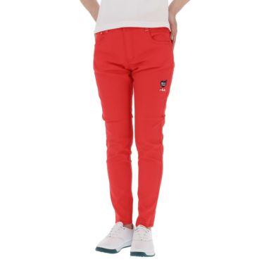 フィラ FILA レディース 撥水 ストレッチ ハート刺繍 9分丈 パンツ 751-300 2021年モデル レッド(RD)