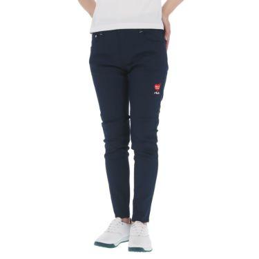 フィラ FILA レディース 撥水 ストレッチ ハート刺繍 9分丈 パンツ 751-300 2021年モデル ネイビー(NV)
