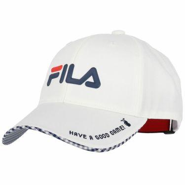 フィラ FILA レディース 撥水 シリコンロゴ キャップ 751-900 WT ホワイト 2021年モデル ホワイト(WT)