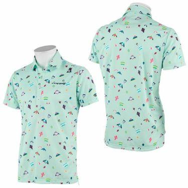 ルコック Le coq sportif メンズ 総柄プリント カイト柄 半袖 ポロシャツ QGMRJA23 2021年モデル 詳細3