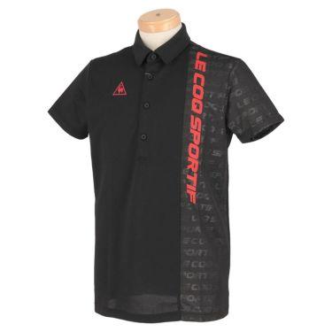 ルコック Le coq sportif メンズ ロゴプリント 生地切替 半袖 ポロシャツ QGMRJA32 2021年モデル ブラック(BK00)