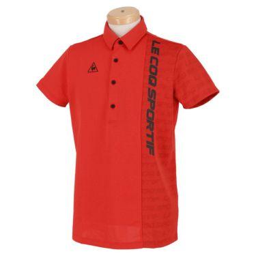 ルコック Le coq sportif メンズ ロゴプリント 生地切替 半袖 ポロシャツ QGMRJA32 2021年モデル レッド(RD00)