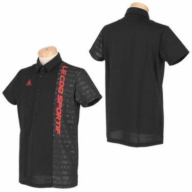 ルコック Le coq sportif メンズ ロゴプリント 生地切替 半袖 ポロシャツ QGMRJA32 2021年モデル 詳細3