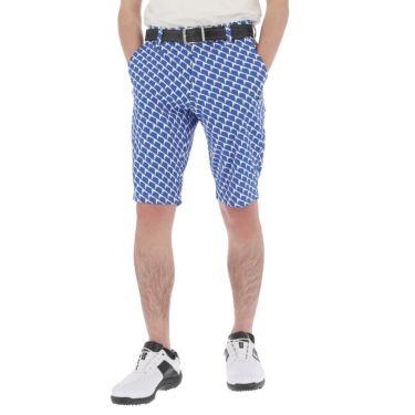 【ssプロパー】△ルコック メンズ ジオメトリック柄 ドビー ストレッチ ショートパンツ QGMRJD51 ゴルフウェア [2021年春夏モデル] ブルー(BL00)