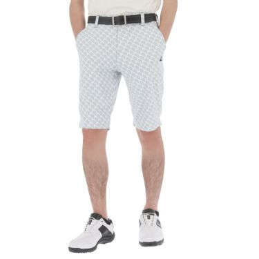 【ssプロパー】△ルコック メンズ ジオメトリック柄 ドビー ストレッチ ショートパンツ QGMRJD51 ゴルフウェア [2021年春夏モデル] グレー(GY00)