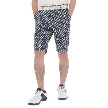 【ssプロパー】△ルコック メンズ ジオメトリック柄 ドビー ストレッチ ショートパンツ QGMRJD51 ゴルフウェア [2021年春夏モデル] ネイビー(NV00)