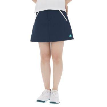 【ssプロパー】△ルコック レディース ロゴ刺繍 ストレッチ プリーツ スカート QGWRJE05 ゴルフウェア [2021年春夏モデル] ネイビー(NV00)