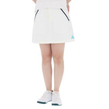 【ssプロパー】△ルコック レディース ロゴ刺繍 ストレッチ プリーツ スカート QGWRJE05 ゴルフウェア [2021年春夏モデル] ホワイト(WH00)