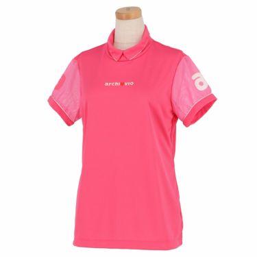 アルチビオ archivio レディース ロゴ刺繍 メッシュ切替 半袖 ハイネックシャツ A059311 2021年モデル ピンク(025)