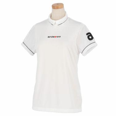 アルチビオ archivio レディース ロゴ刺繍 メッシュ切替 半袖 ハイネックシャツ A059311 2021年モデル ホワイト(090)