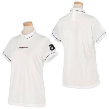 アルチビオ archivio レディース ロゴ刺繍 メッシュ切替 半袖 ハイネックシャツ A059311 2021年モデル 詳細3