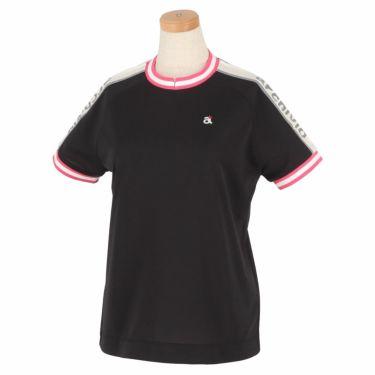 アルチビオ archivio レディース ロゴプリント 半袖 ラグランスリーブ クルーネックシャツ A059316 2021年モデル ブラック(001)