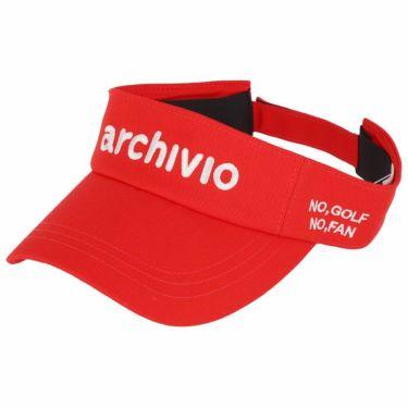 アルチビオ archivio レディース ロゴ刺繍 サンバイザー A050314 020 レッド 2021年モデル レッド(020)