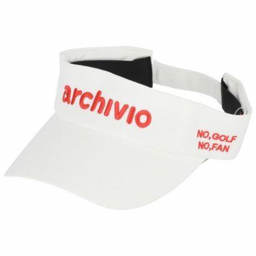 アルチビオ archivio レディース ロゴ刺繍 サンバイザー A050314 192 ホワイト×レッド 2021年モデル ホワイト×レッド(192)