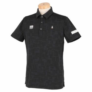 マンシングウェア Munsingwear メンズ メッシュ切替 半袖 ポロシャツ MEMRJA07 2021年モデル ブラック(BK00)