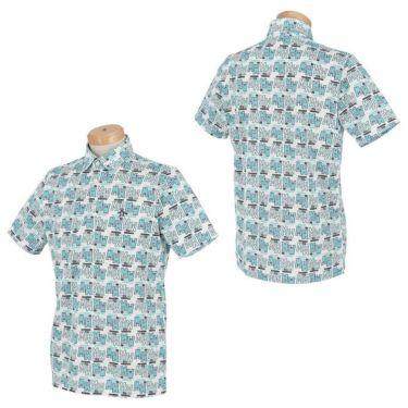 マンシングウェア Munsingwear メンズ 総柄プリント 半袖 ポロシャツ MGMRJA06X 2021年モデル 詳細3