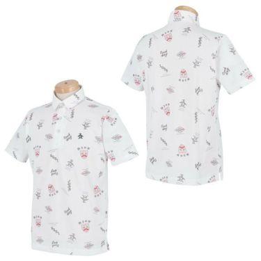 マンシングウェア Munsingwear メンズ 手書き風プリント 飛び柄 シャンブレー 半袖 ポロシャツ MGMRJA08 2021年モデル 詳細3
