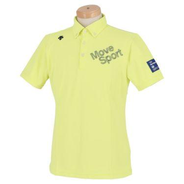 デサントゴルフ DESCENTE GOLF メンズ ストレッチ ロゴ刺繍 半袖 ボタンダウン ポロシャツ DGMRJA47 2021年モデル ライム(LM00)