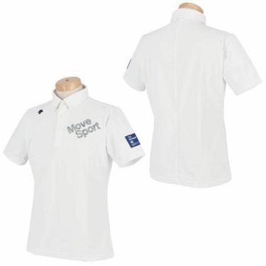 デサントゴルフ DESCENTE GOLF メンズ ストレッチ ロゴ刺繍 半袖 ボタンダウン ポロシャツ DGMRJA47 2021年モデル 詳細3