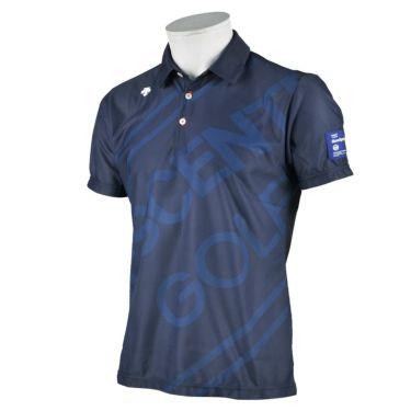 デサントゴルフ DESCENTE GOLF メンズ ロゴグラフィック 半袖 ポロシャツ DGMRJA48 2021年モデル ネイビー(NV00)