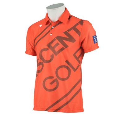 デサントゴルフ DESCENTE GOLF メンズ ロゴグラフィック 半袖 ポロシャツ DGMRJA48 2021年モデル オレンジ(OR00)