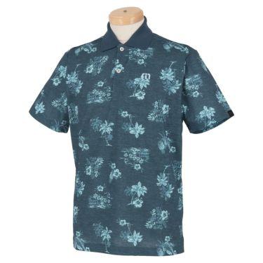トラヴィスマシュー Travis Mathew メンズ ロゴ刺繍 総柄 グラフィックプリント 半袖 ポロシャツ 7AD031 2021年モデル ネイビー(4NAV)