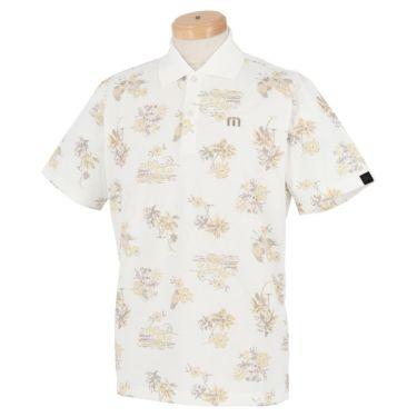トラヴィスマシュー Travis Mathew メンズ ロゴ刺繍 総柄 グラフィックプリント 半袖 ポロシャツ 7AD031 2021年モデル ホワイト(1WHT)