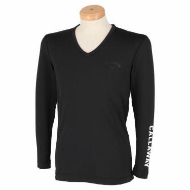 キャロウェイ Callaway メンズ 長袖 Vネック インナーシャツ 241-0932510 2021年モデル ブラック(010)