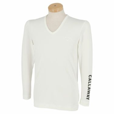 キャロウェイ Callaway メンズ 長袖 Vネック インナーシャツ 241-0932510 2021年モデル ホワイト(030)