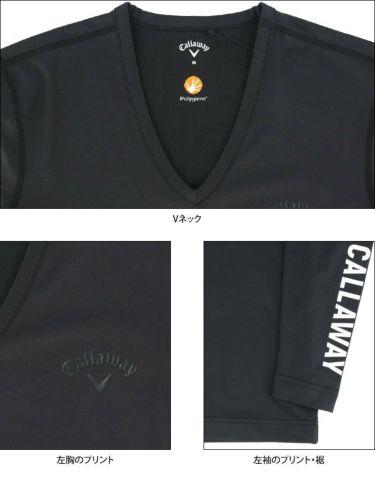 キャロウェイ Callaway メンズ 長袖 Vネック インナーシャツ 241-0932510 2021年モデル 詳細4