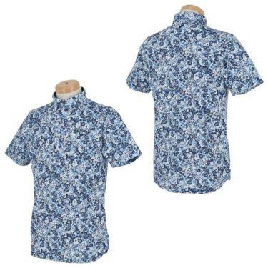 キャロウェイ Callaway メンズ 小花柄 鹿の子 半袖 ボタンダウン ポロシャツ 241-1134518 2021年モデル 詳細3