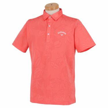 キャロウェイ Callaway メンズ 総柄 フラワージャカード 半袖 ポロシャツ 241-1134535 2021年モデル コーラル(101)