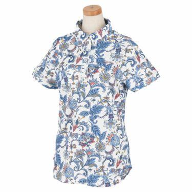 キャロウェイ Callaway レディース ペイズリー柄 半袖 ポロシャツ 241-1134819 2021年モデル ホワイト(030)