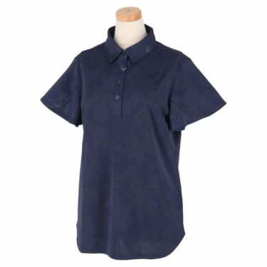 キャロウェイ Callaway レディース 総柄 フラワージャカード 半袖 ポロシャツ 241-1134820 2021年モデル ネイビー(120)