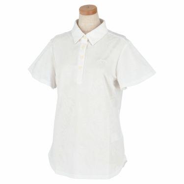 キャロウェイ Callaway レディース 総柄 フラワージャカード 半袖 ポロシャツ 241-1134820 2021年モデル ホワイト(030)