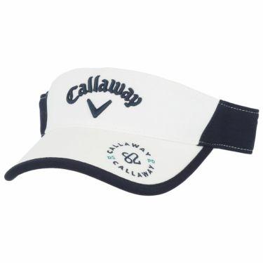 キャロウェイ Callaway メンズ バイカラー サンバイザー 241-1191514 030 ホワイト 2021年モデル ホワイト(030)