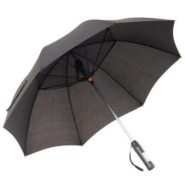 雨天兼用 扇風機付き傘 700903 BK ブラック ブラック(BK)