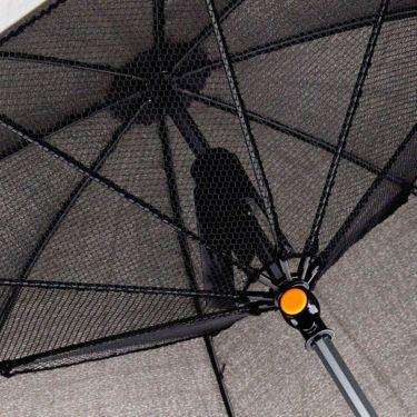 雨天兼用 扇風機付き傘 700903 BK ブラック 詳細2