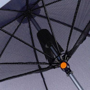 雨天兼用 扇風機付き傘 700903 NV ネイビー 詳細2