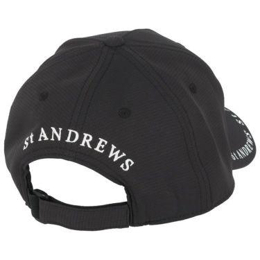セントアンドリュース St ANDREWS ユニセックス ロゴプリント キャップ 042-1187551 010 ブラック 2021年モデル 詳細1