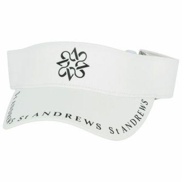 セントアンドリュース St ANDREWS ユニセックス ロゴプリント サンバイザー 042-1187552 030 ホワイト 2021年モデル ホワイト(030)