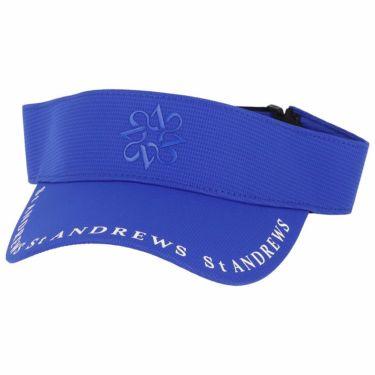 セントアンドリュース St ANDREWS ユニセックス ロゴプリント サンバイザー 042-1187552 110 ブルー 2021年モデル ブルー(110)