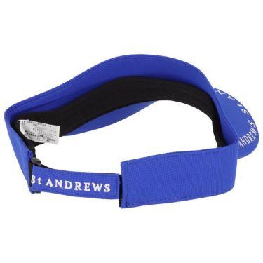 セントアンドリュース St ANDREWS ユニセックス ロゴプリント サンバイザー 042-1187552 110 ブルー 2021年モデル 詳細1