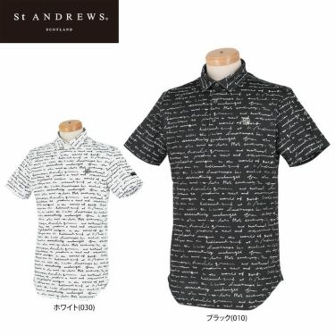 セントアンドリュース St ANDREWS メンズ 鹿の子 総柄プリント 半袖 ポロシャツ 042-1160355 2021年モデル 詳細1
