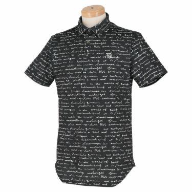 セントアンドリュース St ANDREWS メンズ 鹿の子 総柄プリント 半袖 ポロシャツ 042-1160355 2021年モデル ブラック(010)