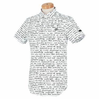 セントアンドリュース St ANDREWS メンズ 鹿の子 総柄プリント 半袖 ポロシャツ 042-1160355 2021年モデル ホワイト(030)