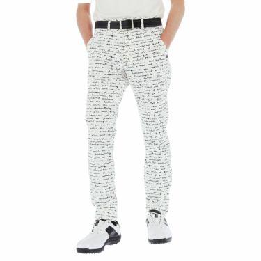 セントアンドリュース St ANDREWS メンズ 総柄プリント ツイル ストレッチ ロングパンツ 042-1131353 2021年モデル [裾上げ対応1●] ホワイト(030)